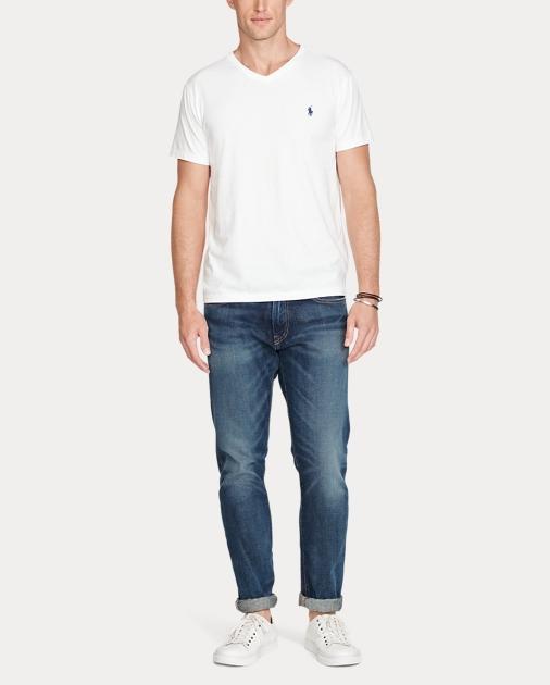 9a9154765 Men's Cotton Jersey Polo V-Neck T-Shirt | Ralph Lauren