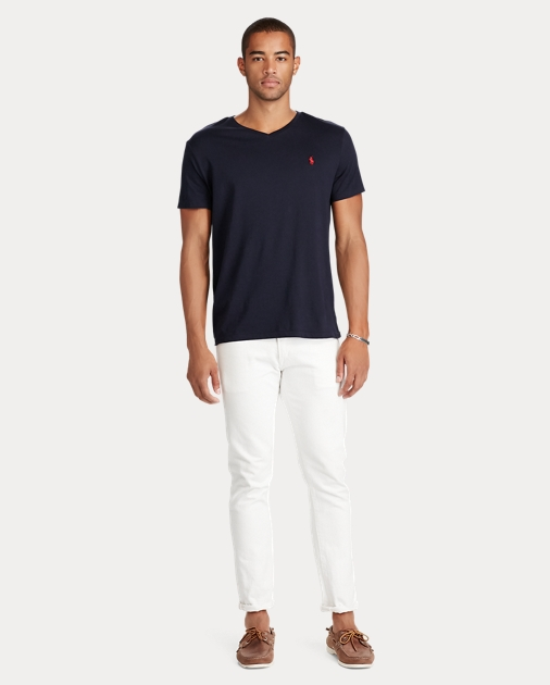 f1a68fcd3 Men's Cotton Jersey Polo V-Neck T-Shirt | Ralph Lauren