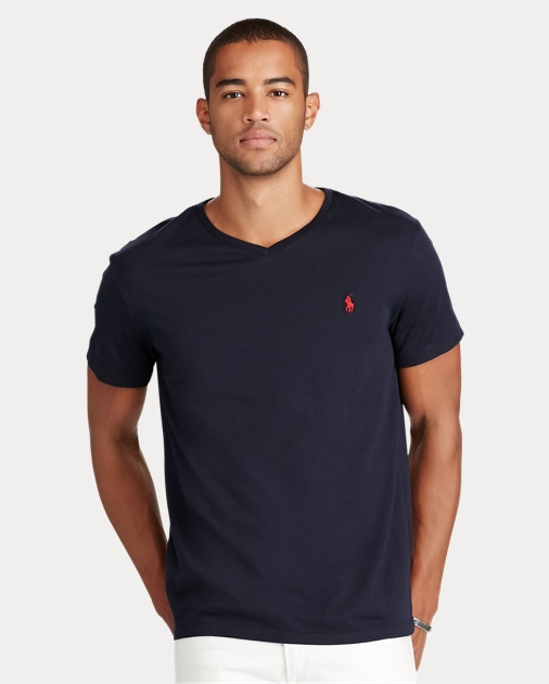 5da8095c Men's Cotton Jersey Polo V-Neck T-Shirt | Ralph Lauren