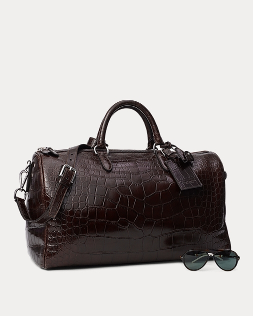 f7904ef09c5f Ralph Lauren Alligator Boston Bag 4