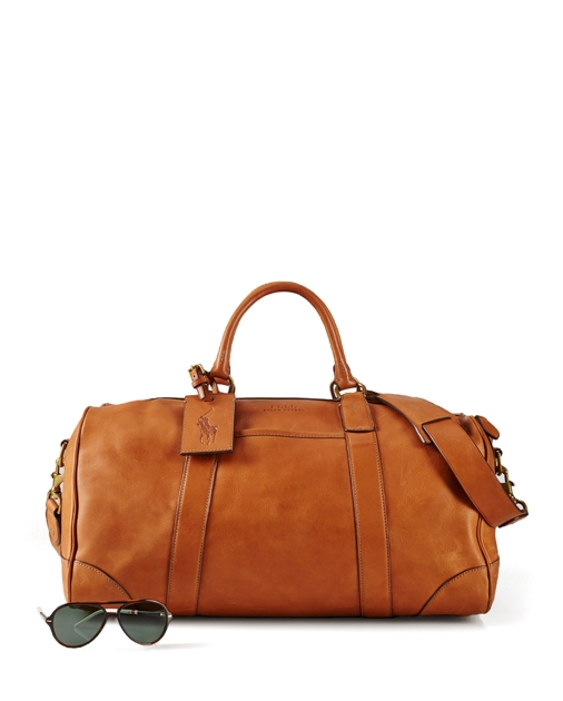c85c0f4f9109 Polo Ralph Lauren Leather Duffel Bag 1