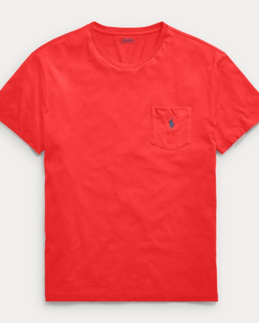 0a650ec39 Men's Crew Neck Cotton Pocket Tee | Classic Fit | Polo Ralph Lauren