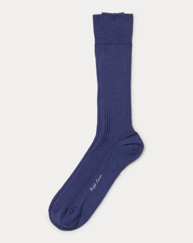 Rib-Knit Wool Sock
