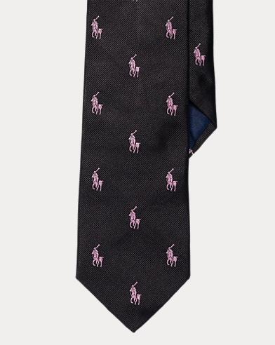 Pink Pony Silk Repp Tie