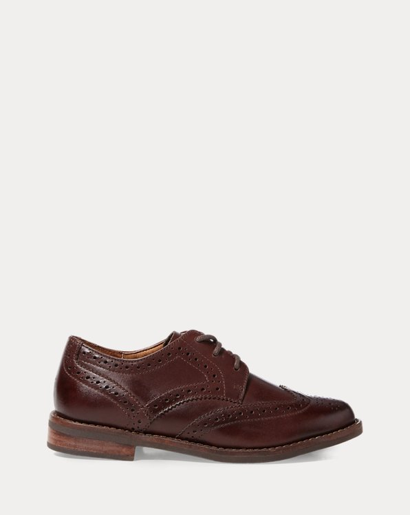 Chaussures Oxford à bout golf cuir