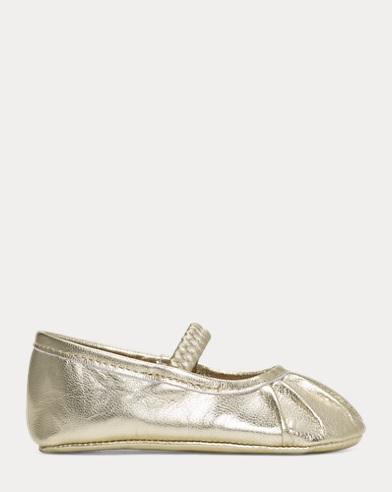 Platina Metallic Ballet Flat