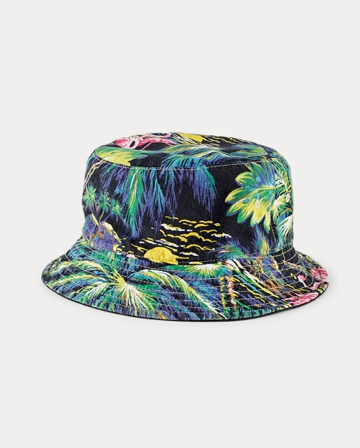 090a0df98d4 Polo Ralph Lauren Reversible Twill Bucket Hat 1