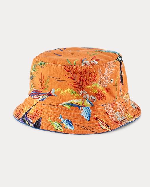 7fd174d8e7a31 Polo Ralph Lauren Reversible Twill Bucket Hat 1
