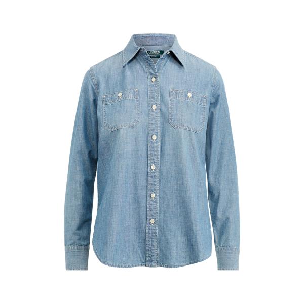 Ralph Lauren Chambray Button-Down Shirt Chambray L