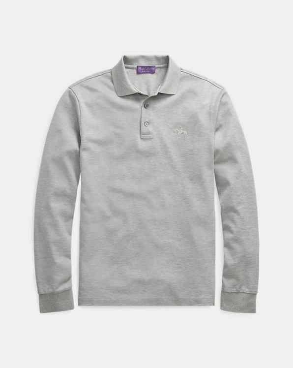 Custom-Slim-Fit Langarm-Polo