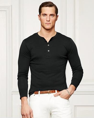 Cotton Interlock Henley Shirt