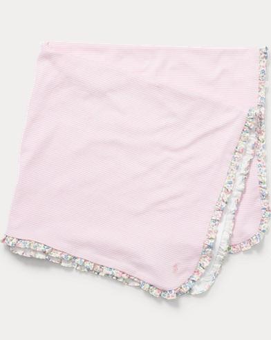 Ruffle-Trim Cotton Blanket