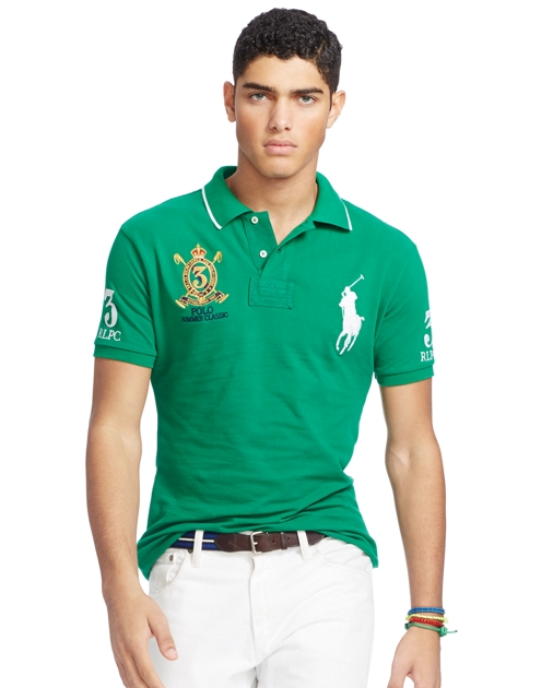 6e31a256 Polo Ralph Lauren Custom Fit Mesh Polo Shirt 1