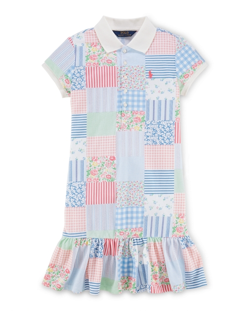64b47b6d8a Patchwork Cotton Polo Dress