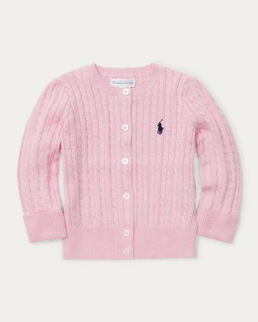 4fb23640d Cable-Knit Cotton Cardigan
