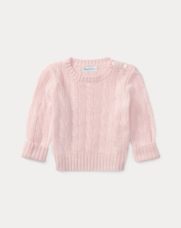 Suéter de punto de ochos de cachemira