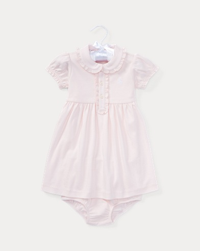 290cba5a6fb51 Cotton Polo Dress   Bloomer. Baby Girl