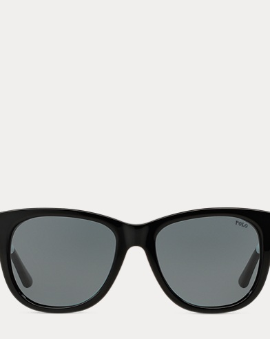 Striped Square Sunglasses