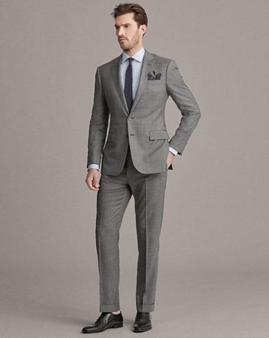 Wool Sharkskin Suit