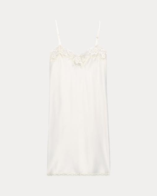 6c2456507 Lace-Trimmed Chemise | Sleepwear & Robes Women | Ralph Lauren