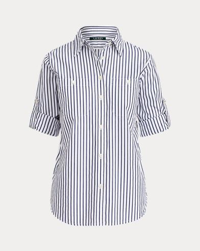 Striped Cotton Pocket Shirt