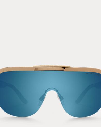 Woven Shield Sunglasses