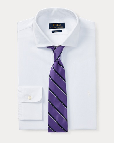 Slim-Fit Cotton Dress Shirt