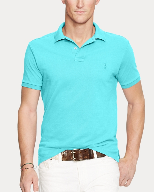 2a3df7b2d0 Slim Fit Mesh Polo Shirt