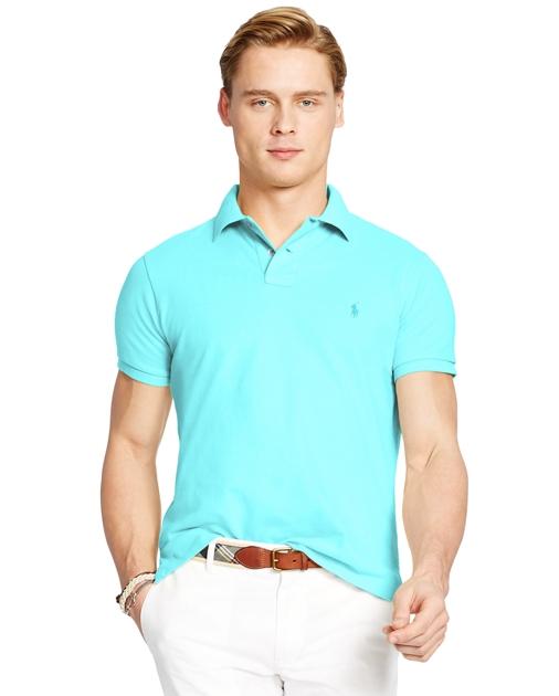 7b007632 Custom Fit Mesh Polo Shirt   Custom Slim Polo Shirts   Ralph Lauren