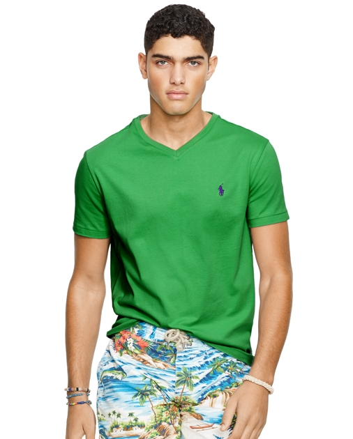 63780c7a3f Men's Cotton Jersey Polo V-Neck T-Shirt | Ralph Lauren