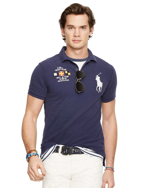 590511979 Save to your Wishlist. Polo Ralph Lauren Custom Fit Mesh Polo Shirt 1