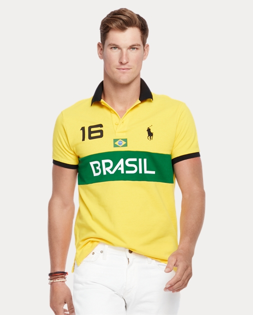 Polo Ralph Lauren Custom Fit Brasil Polo Shirt 1 6599d9d23