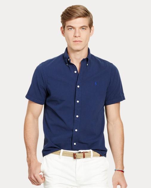 dc9ce145b7b77a Polo Ralph Lauren Slim Fit Seersucker Shirt 1