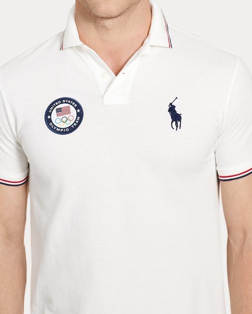 b98e87496922a Polo Ralph Lauren Team USA Custom Fit Mesh Polo 3