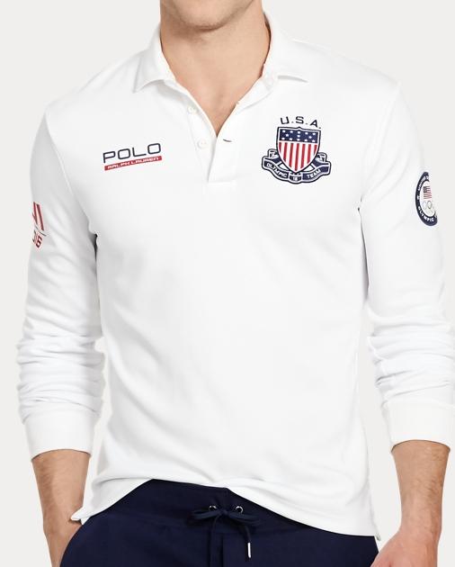 Polo Ralph Lauren Team USA Custom Fit Rugby 1 2db353acac3
