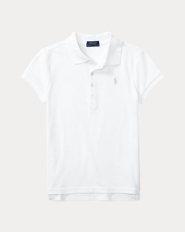 Polo en coton piqué stretch