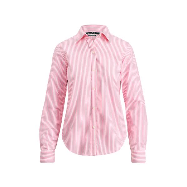 Ralph Lauren Cotton Button-Down Shirt Pink/White M