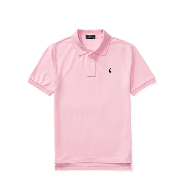 Ralph Lauren Cotton Mesh Polo Shirt Pink S