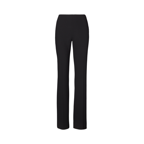 Ralph Lauren Women's Iconic Style Alanda Wool-blend Pants In Black