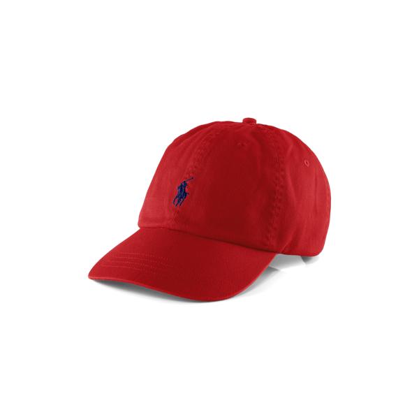 Ralph Lauren Cotton Chino Baseball Cap Rl2000 Red/Blue One Size