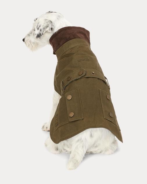 coated cotton dog jacket   apparel the pup shop   ralph lauren