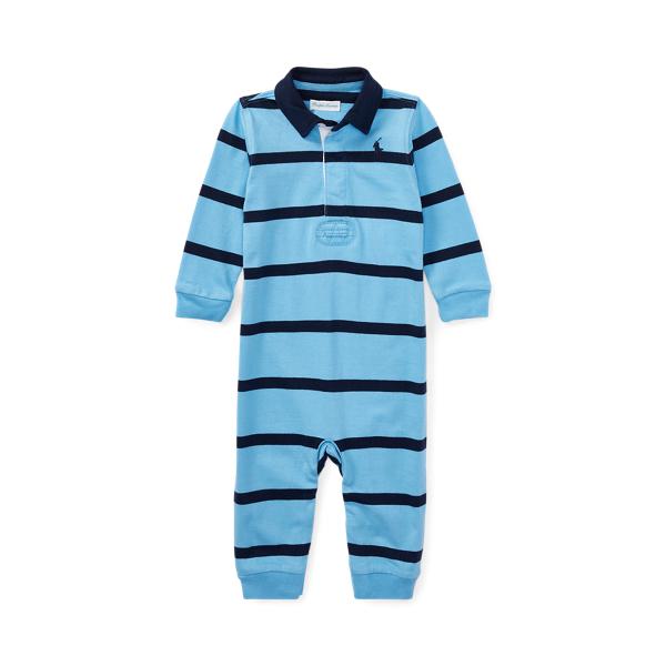 폴로 랄프로렌 Polo Ralph Lauren Striped Cotton Rugby Coverall,Suffield Blue Multi