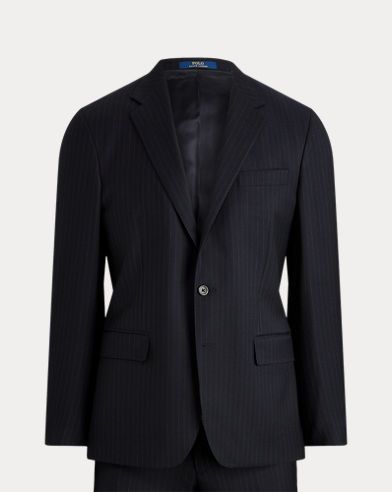 Polo Striped Wool Twill Suit