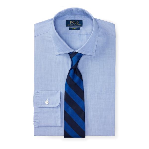 Ralph Lauren Slim Fit End-On-End Shirt 1097A Light Blue/White 16