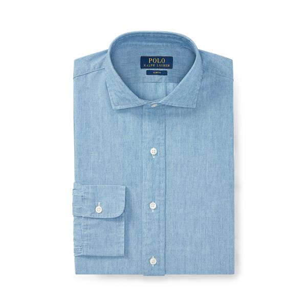 폴로 랄프로렌 셔츠 Polo Ralph Lauren Slim Fit Chambray Shirt,French Blue