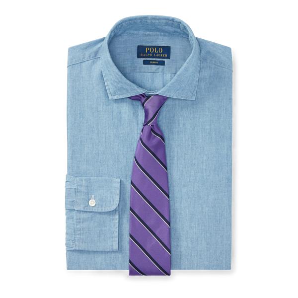 Ralph Lauren Slim Fit Chambray Shirt 1067 French Blue 15