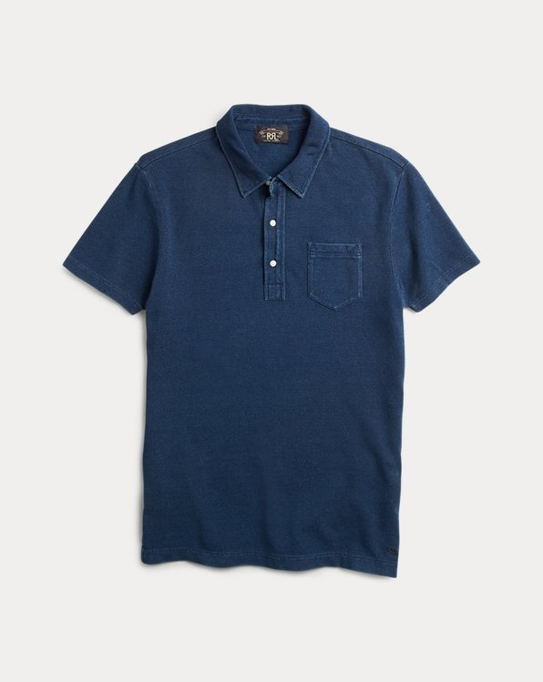 Indigo Mesh Pocket Polo Shirt