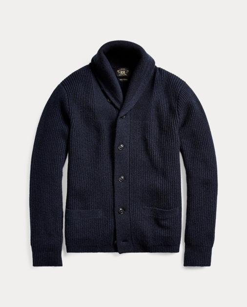 Cashmere Shawl-Collar Cardigan | Cardigan \u0026 Full-Zip Sweaters | Ralph Lauren