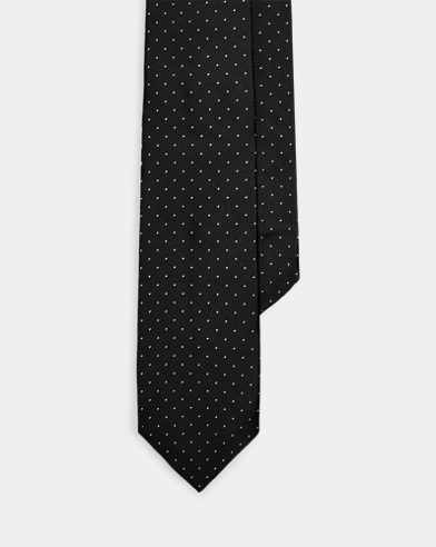 Polka-Dot Silk Narrow Tie