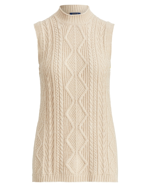 Cable Knit Sleeveless Tunic